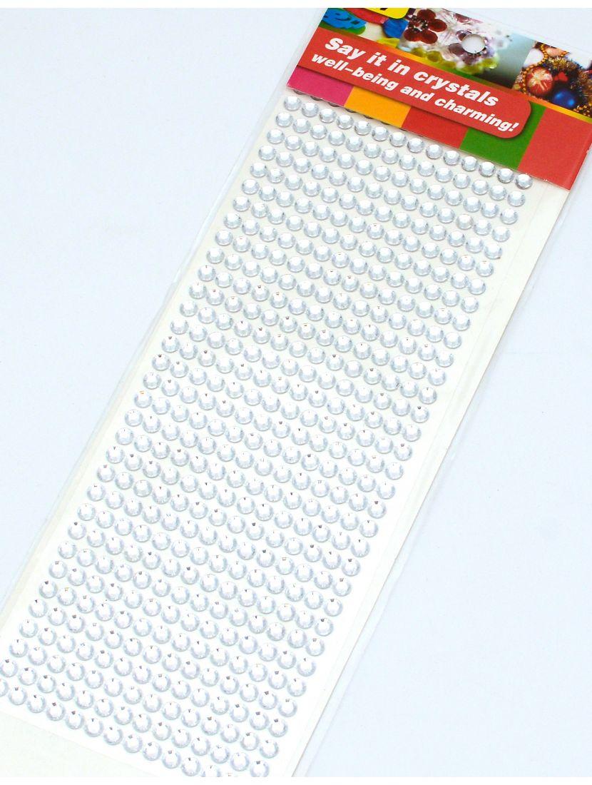 Стразы для рукоделия «Чистый хрусталь» самоклеющиеся 6 мм.