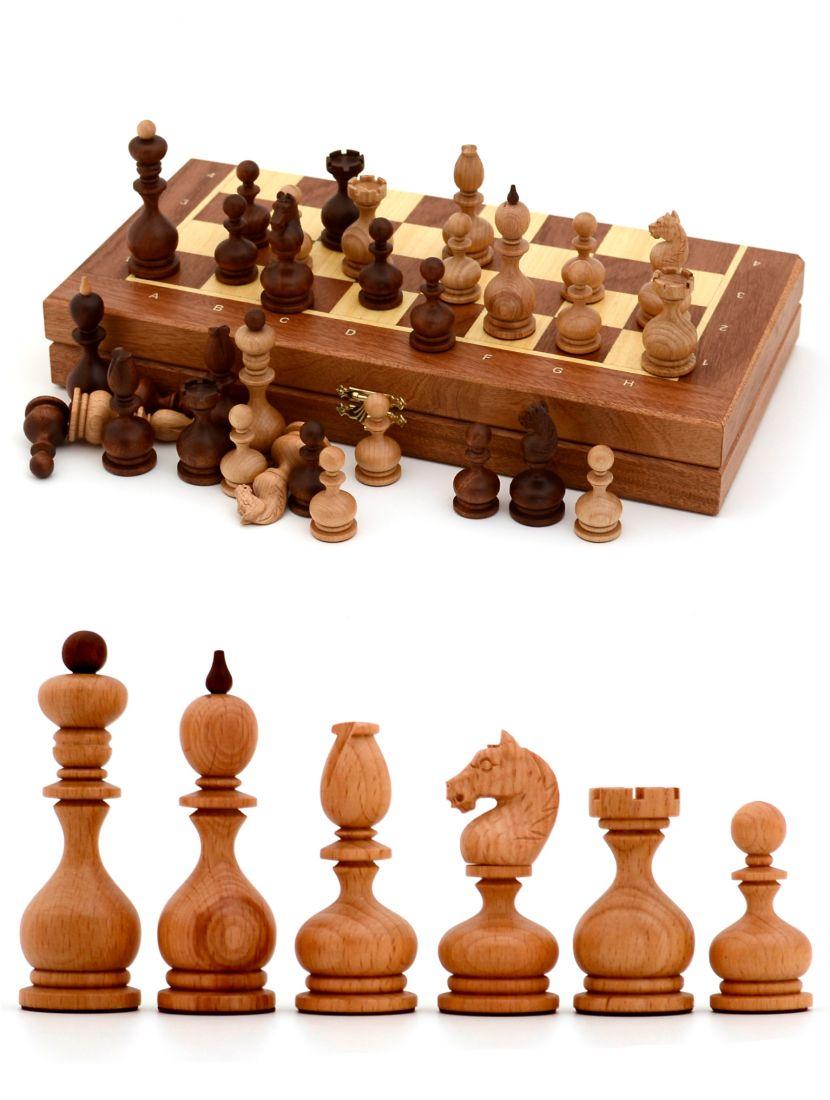 Шахматы с резными фигурами «Суздальские» доска панская махагон