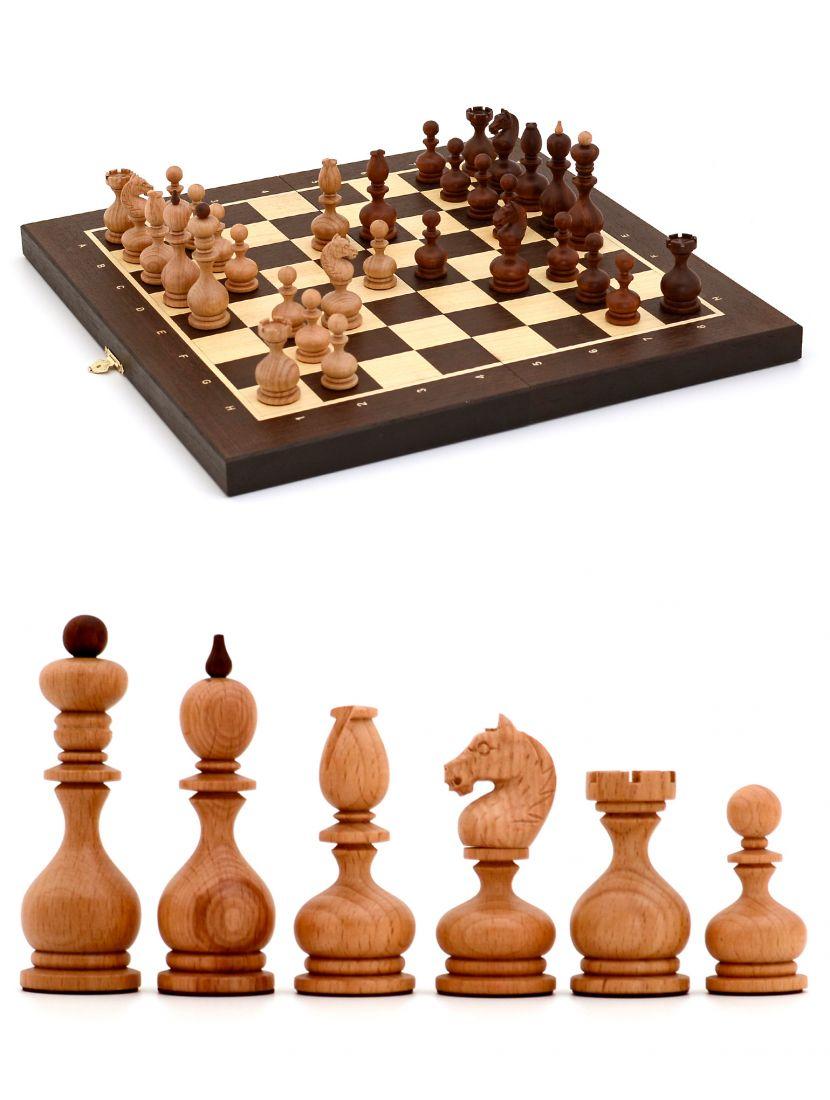 Шахматы с резными фигурами «Суздальские» доска складная панская венге 45x45 см