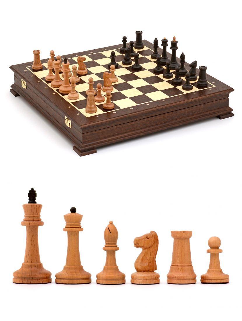Шахматы «Стаунтон» ларец венге 45x45 см
