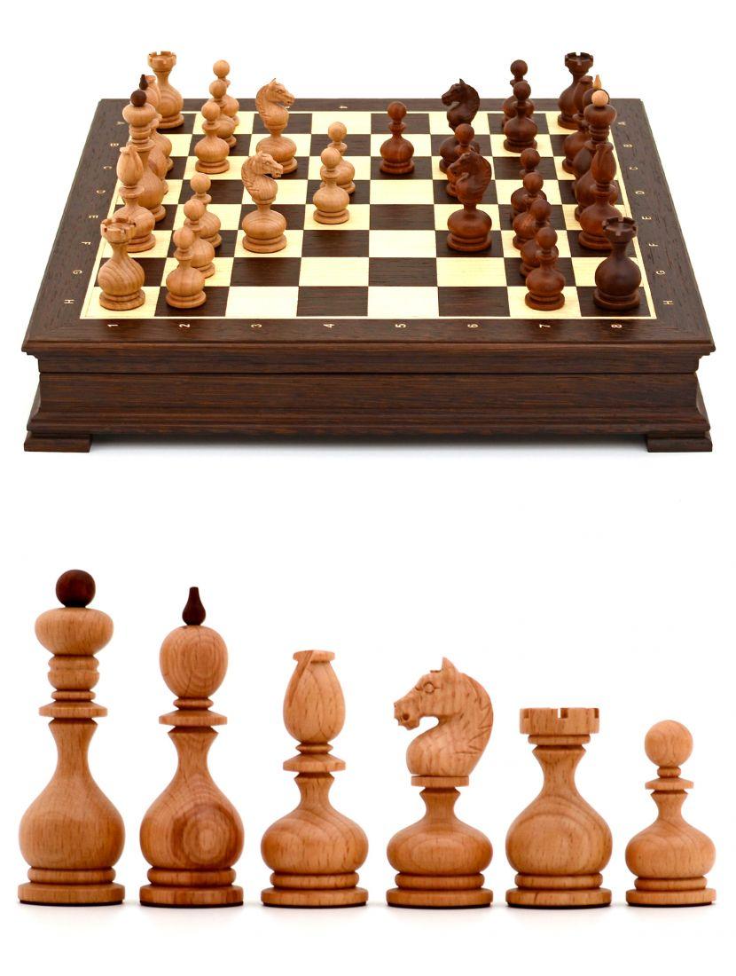 Шахматы с резными фигурами «Суздальские» ларец стаунтон венге 45 x 45 см