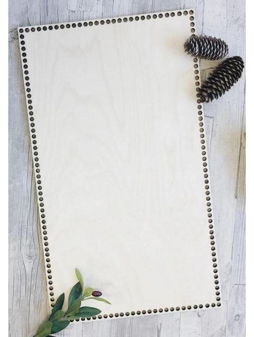 Донышко для вязания «Прямоугольник 65» деревянное, 65*35 см