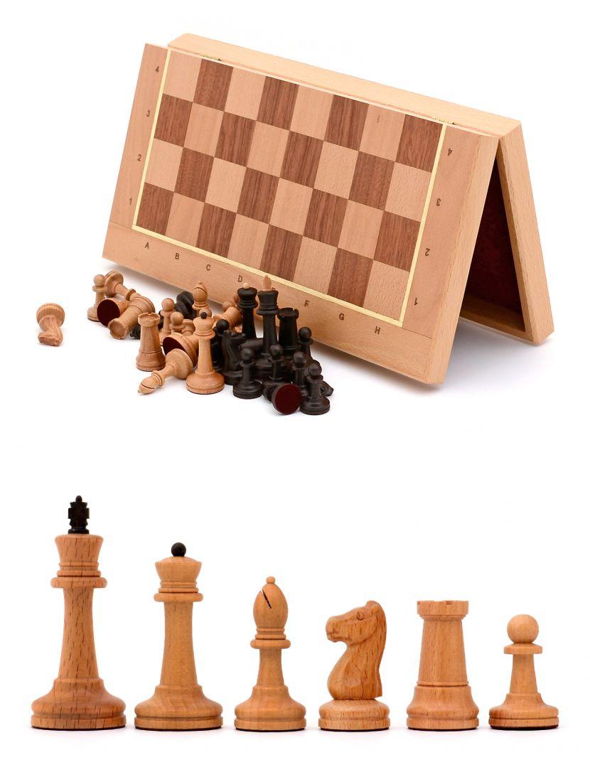 Шахматы складные «Стаунтон» доска панская  из бука 45x45 см