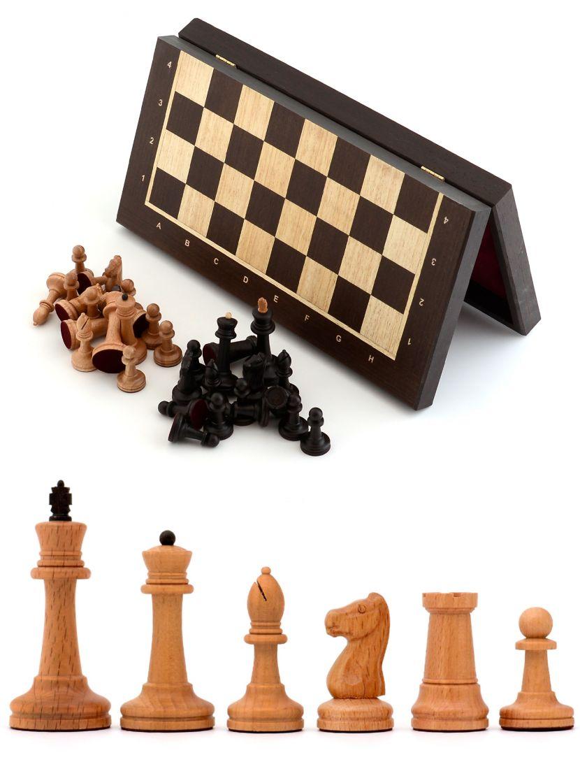 Шахматы складные «Стаунтон» доска панская из венге 40x40 см
