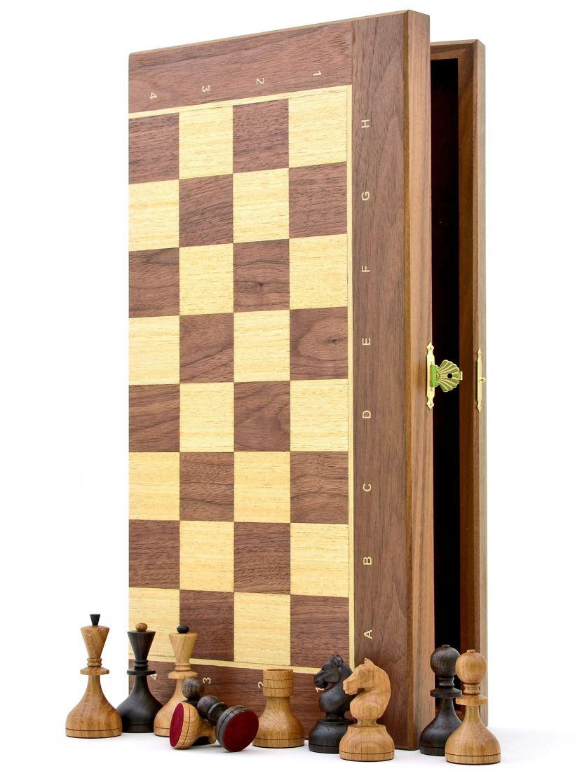 Шахматы «Дворянские орех» доска панская