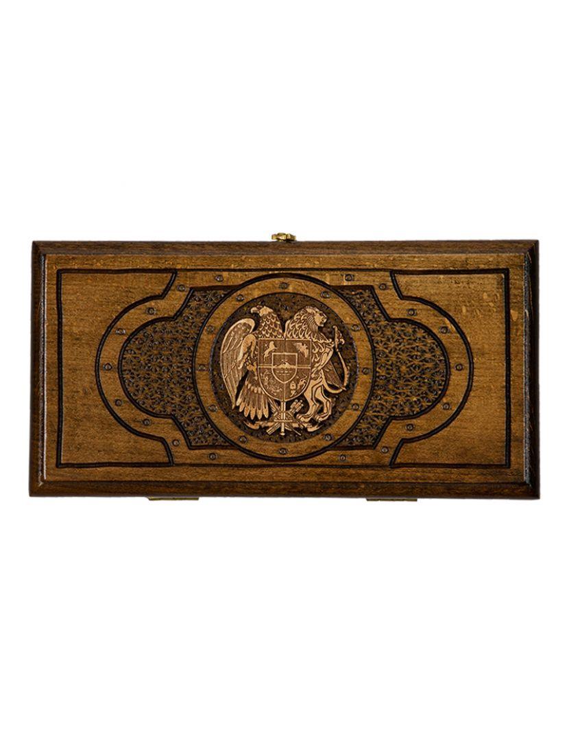 Нарды «Герб Армении» мастер Артур Мирзоян 30 см