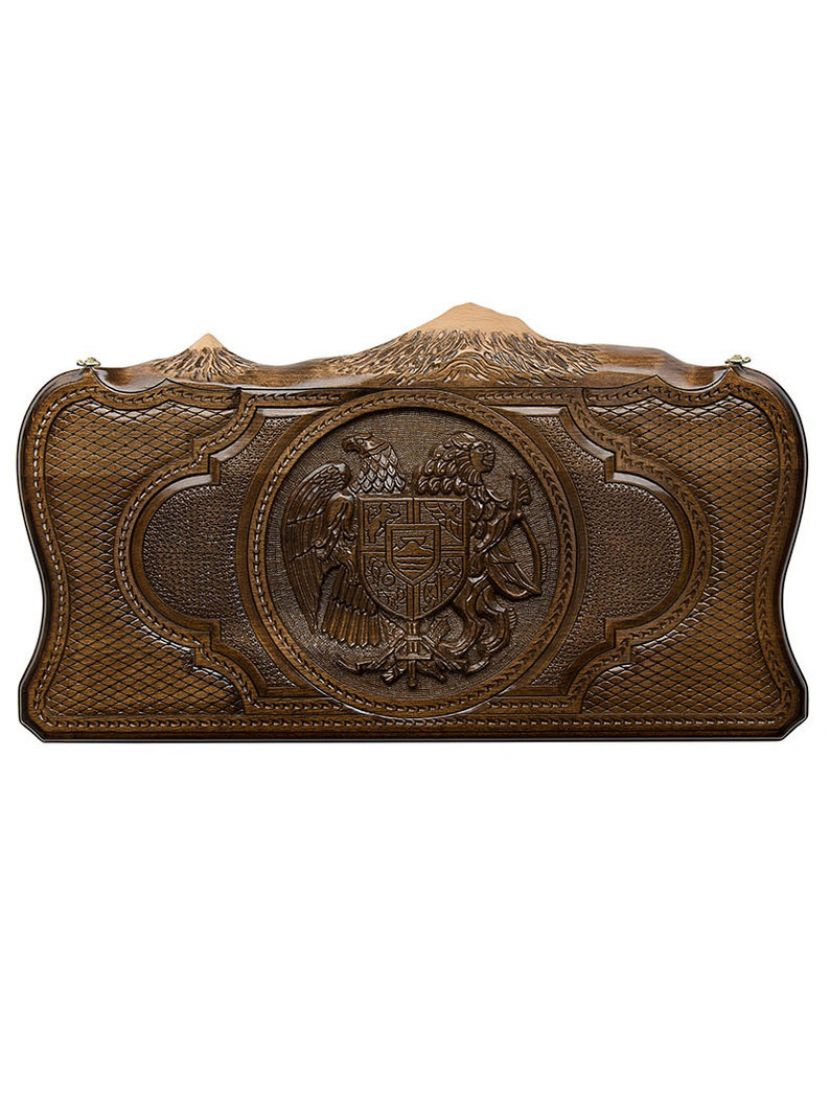 Нарды «Герб Армении с Араратом» мастер Грачия Оганян 60 см