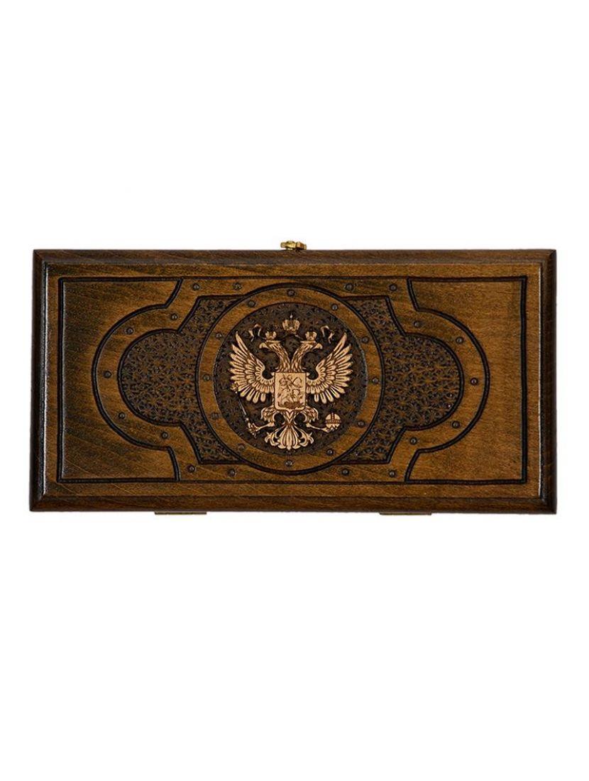 Нарды «Герб РФ» мастер Артур Мирзоян 30 см