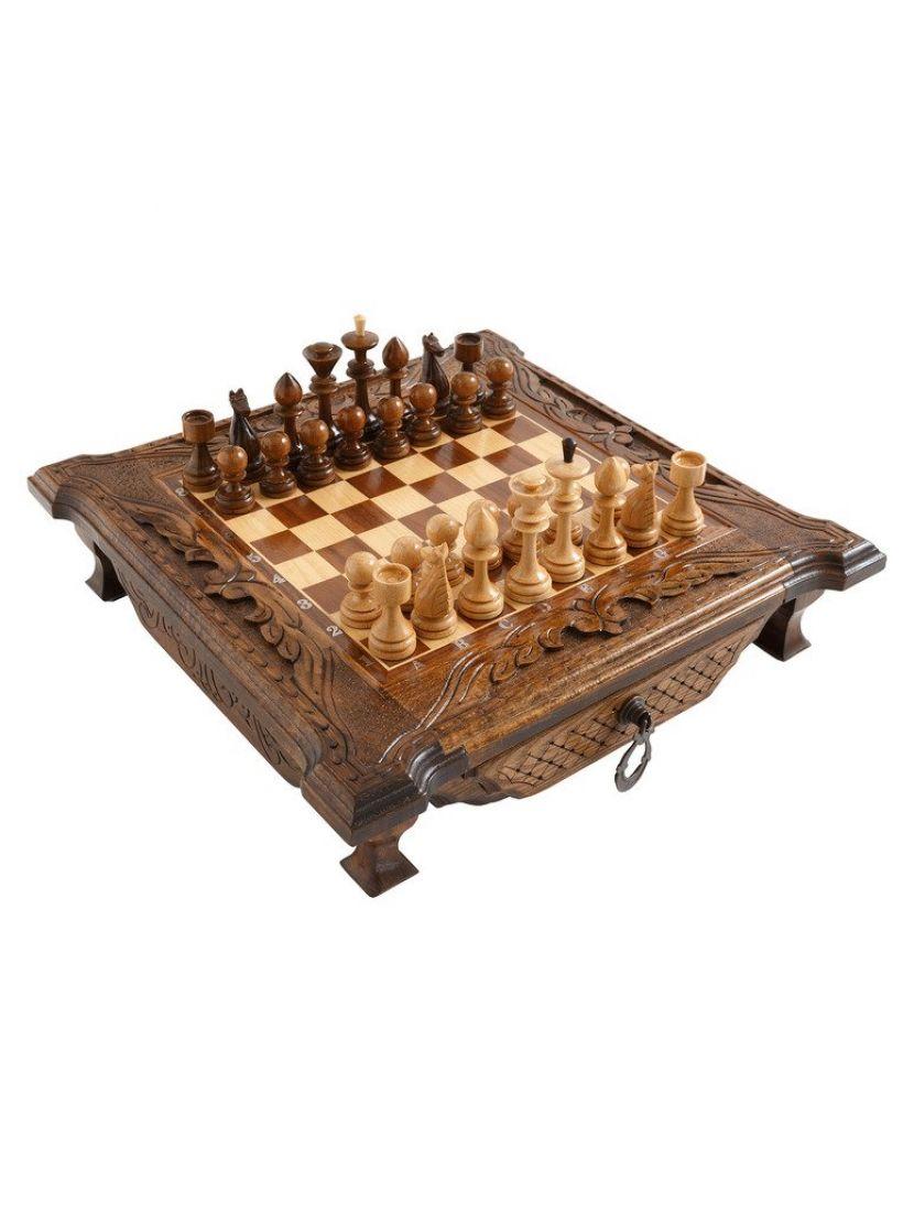 Шахматы с выдвижными ящиками мастер Карен Халеян 50 см