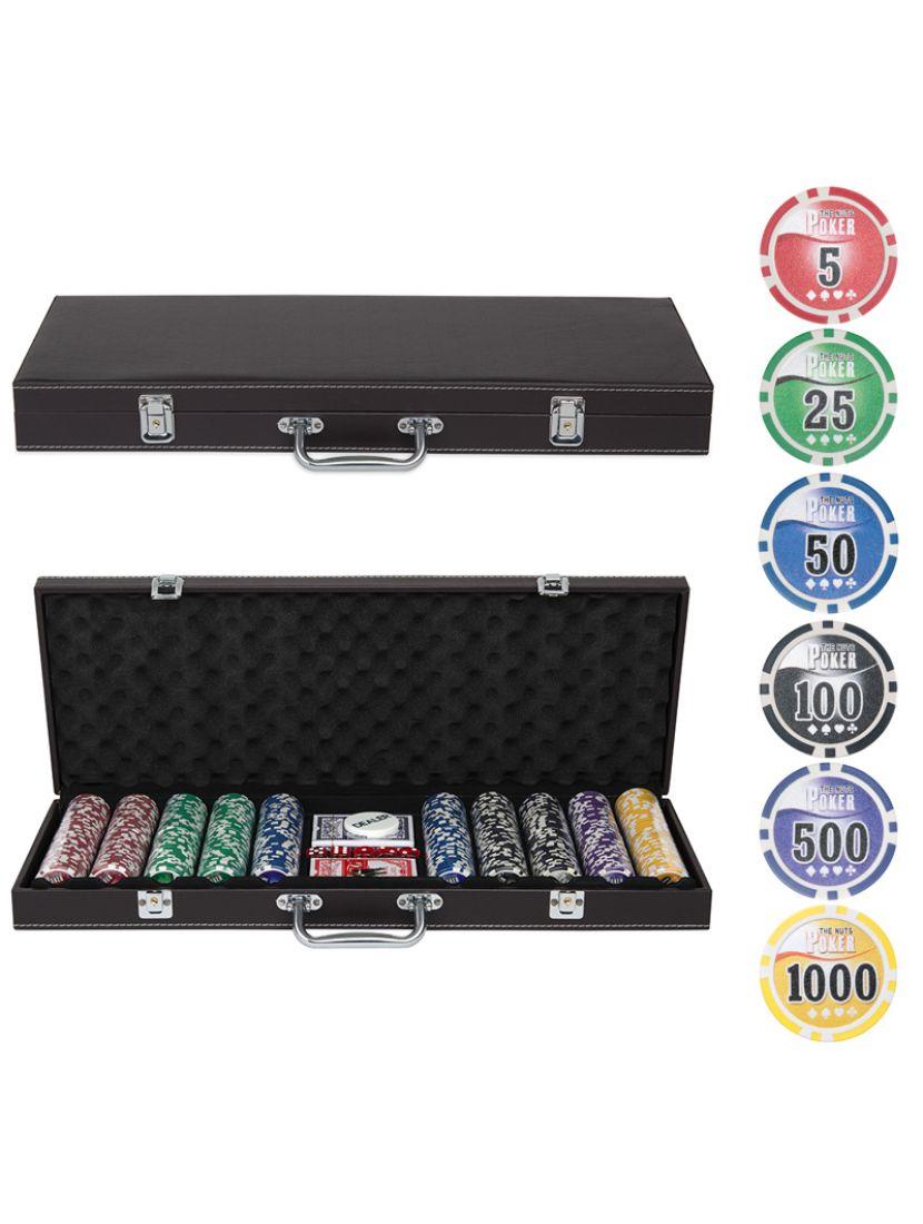 Покер «Leather Brown» 500 фишек
