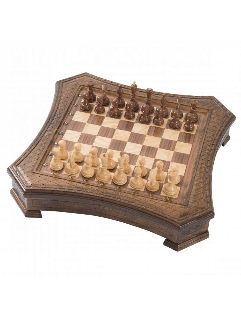 Шахматы «Восьмиугольные» мастер Карен Халеян 30 см
