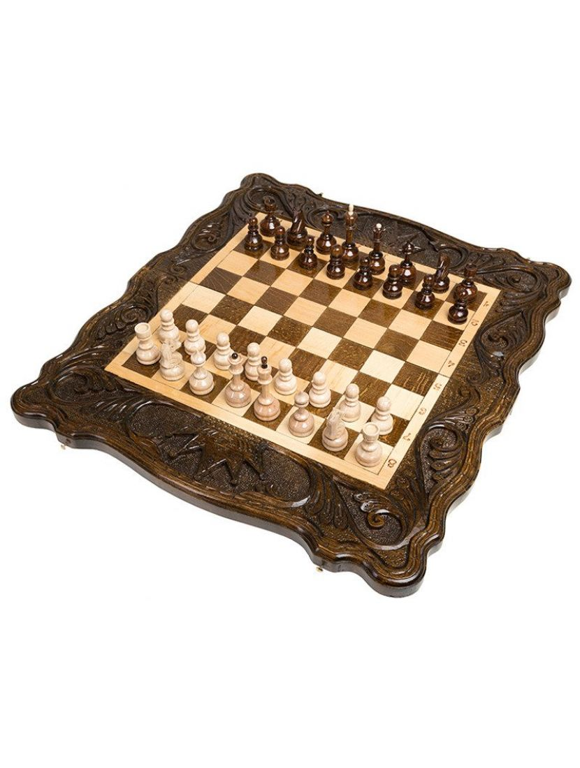 Нарды + шахматы + шашки «Корона» мастер Карен Халеян 3 в 1 50 см