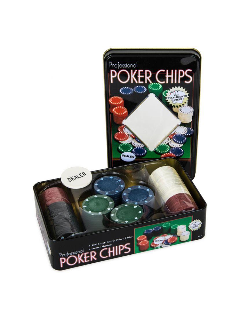 Фишки для покера «Holdem Light» 100 штук без номинала