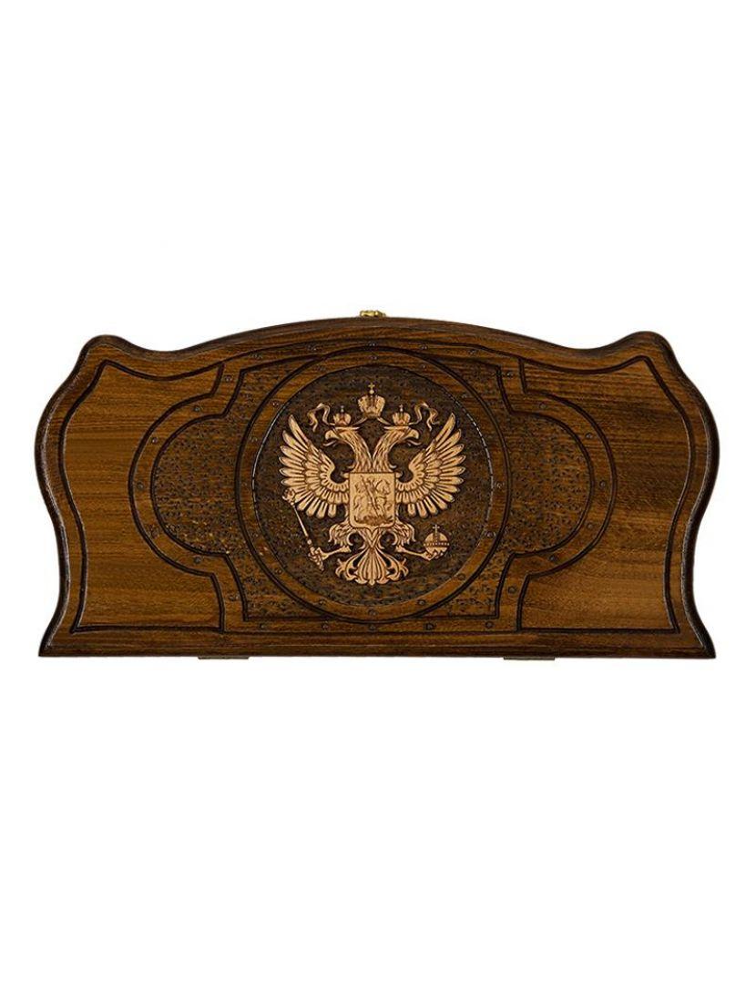 Нарды «Герб РФ 3» мастер Артур Мирзоян 40 см