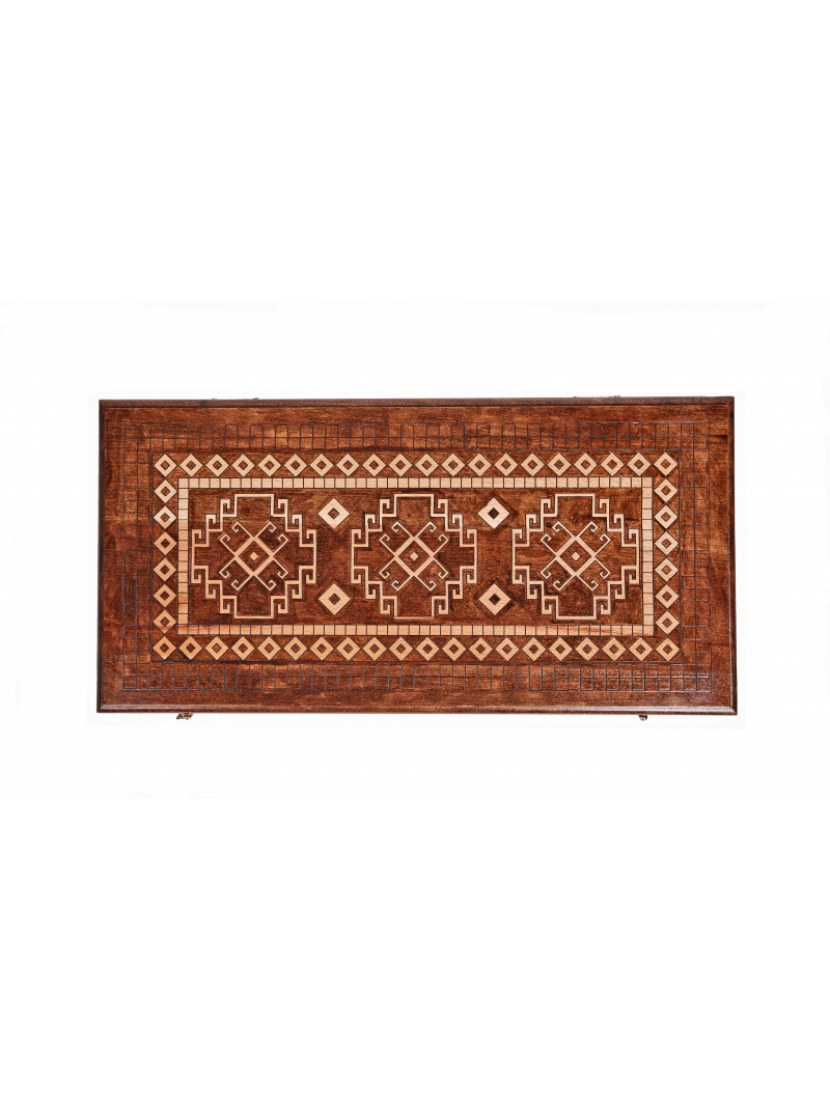 Нарды резные «Армянский ковёр» мастер Давид Мхитарян