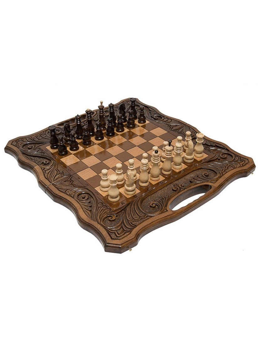 Нарды + шахматы + шашки «Афинские» мастер Карен Халеян 3 в 1 50 см