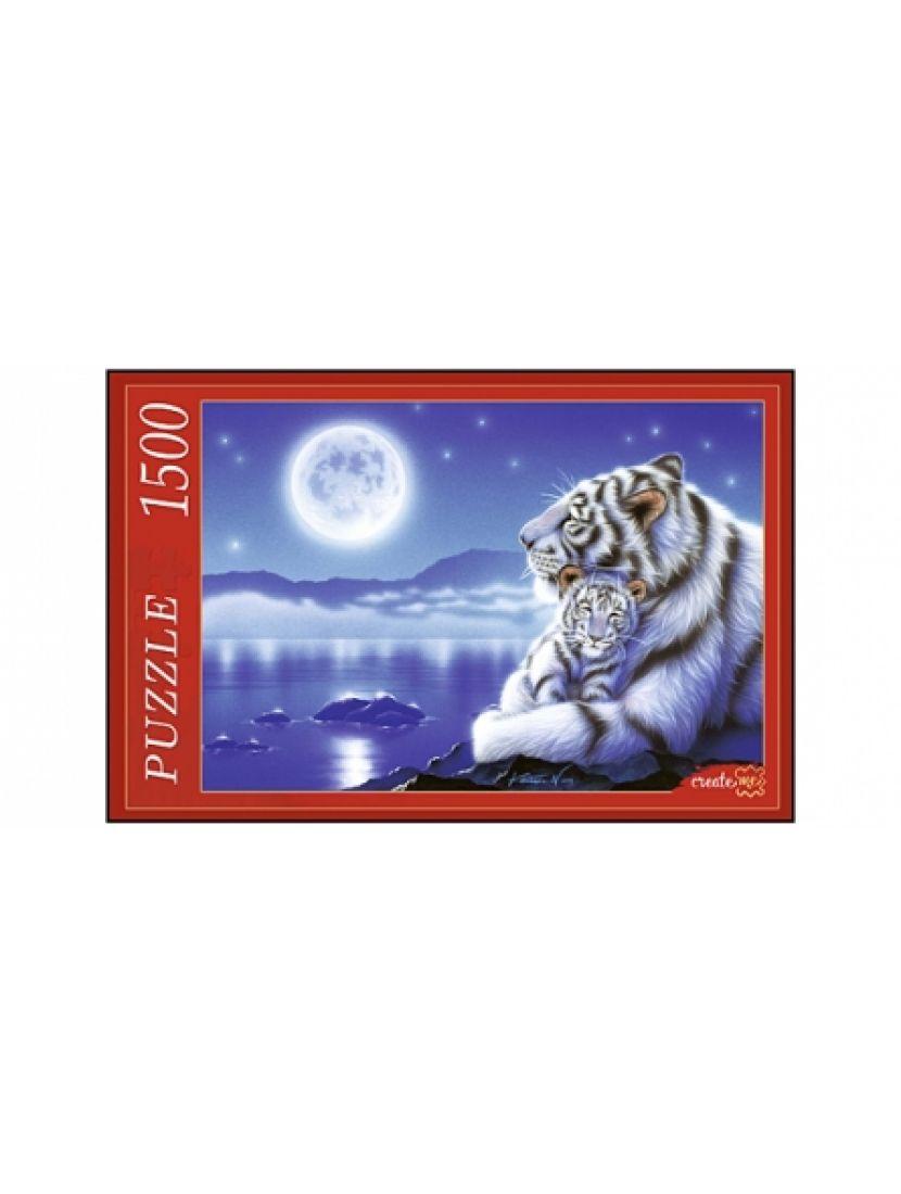 Пазл  «Тигры и Луна. Кентаро Наширо» 1500 элементов
