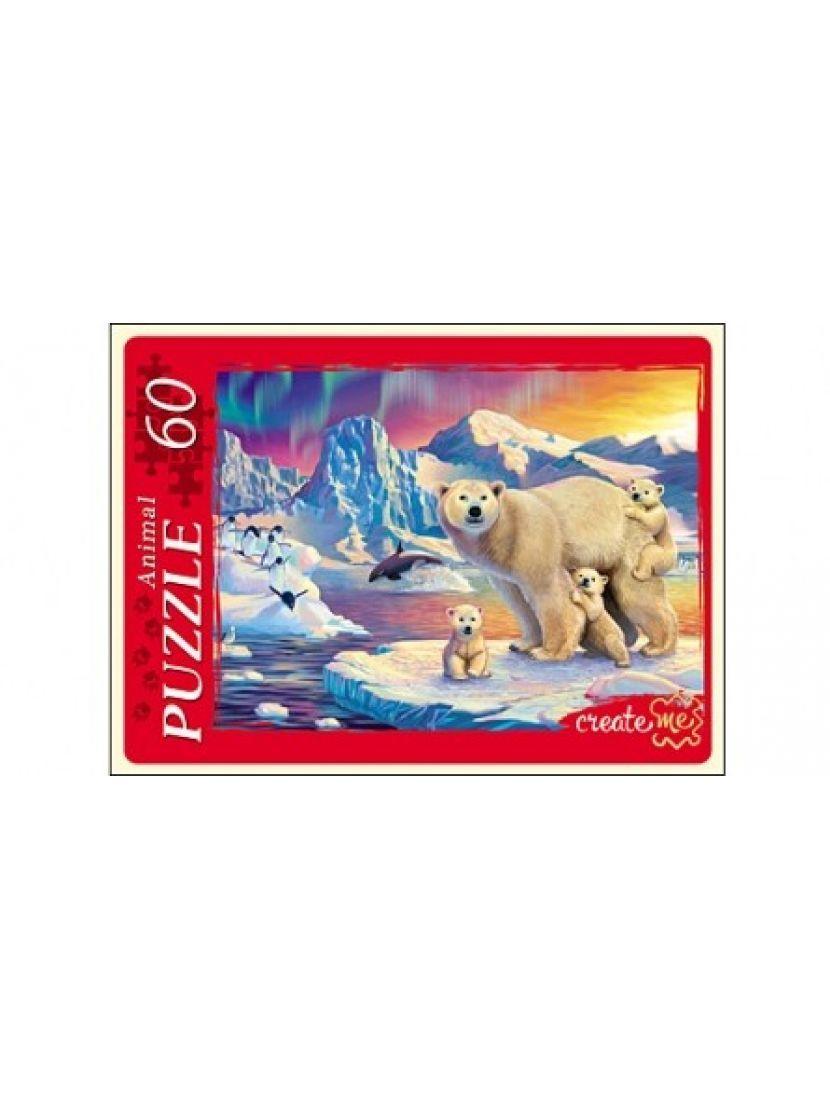 Пазл «Белые медведи» 60 элементов
