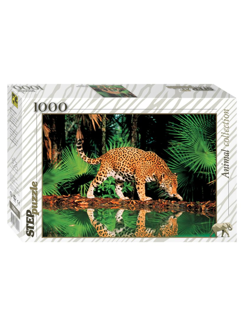 Пазл «Леопард у воды» 1000 элементов