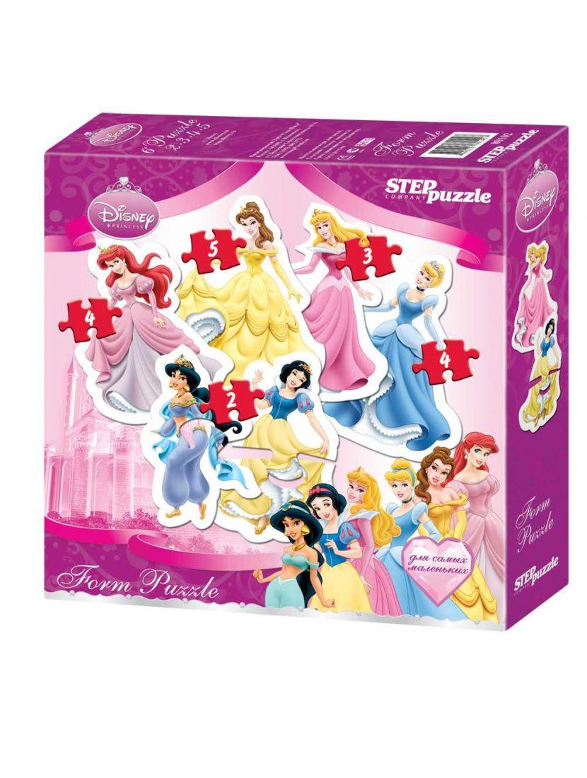 Пазл «Принцессы. Form Puzzle» 2, 3, 4, 5 элементов