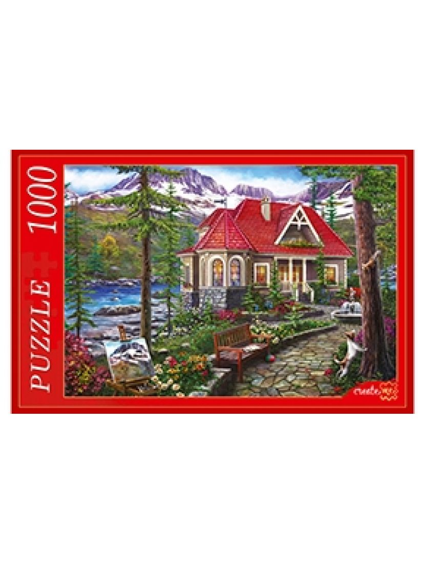 Пазл «Красивый дом у озера» 1000 элементов