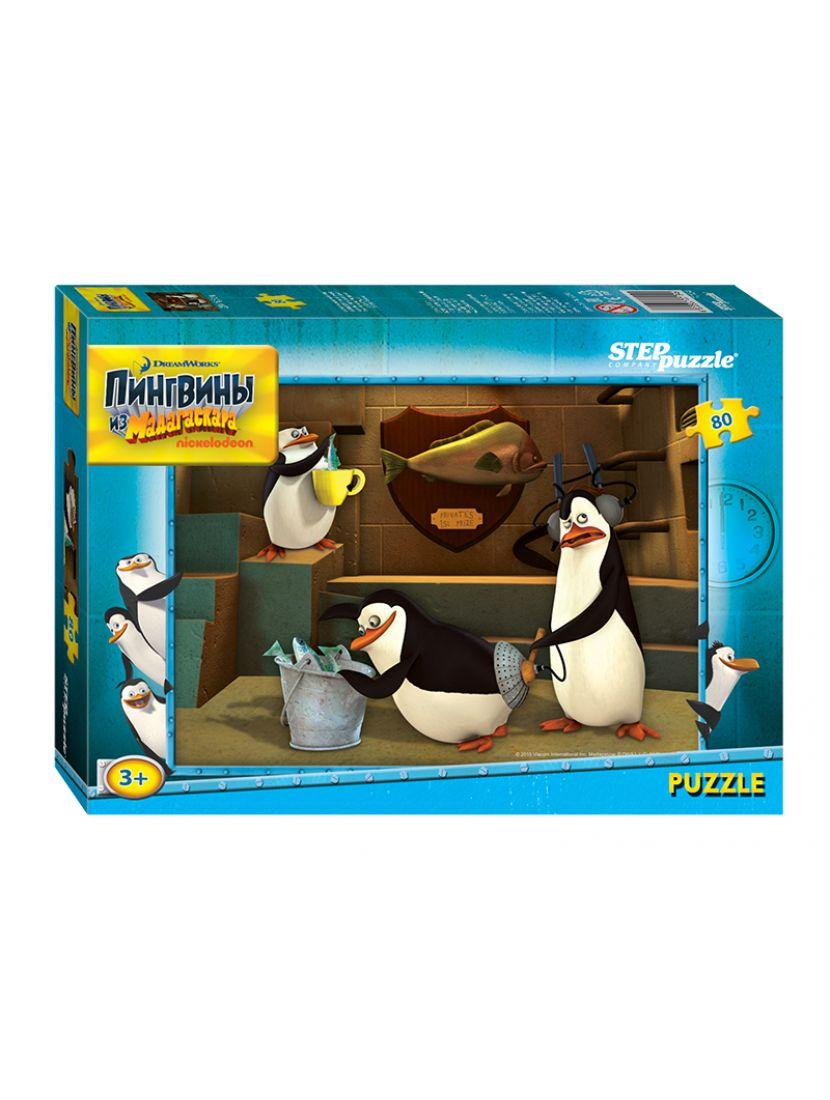 Пазл   «Пингвины из Мадагаскара» 80 элементов