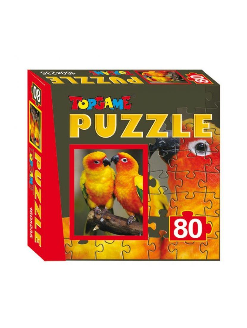 Пазл «Два попугая» 80 элементов