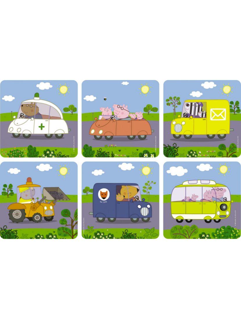 Пазл-набор 6 в 1 «Peppa Pig Транспорт» 36 элементов