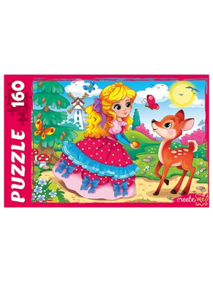 Пазл «Принцесса и оленёнок» 160 элементов