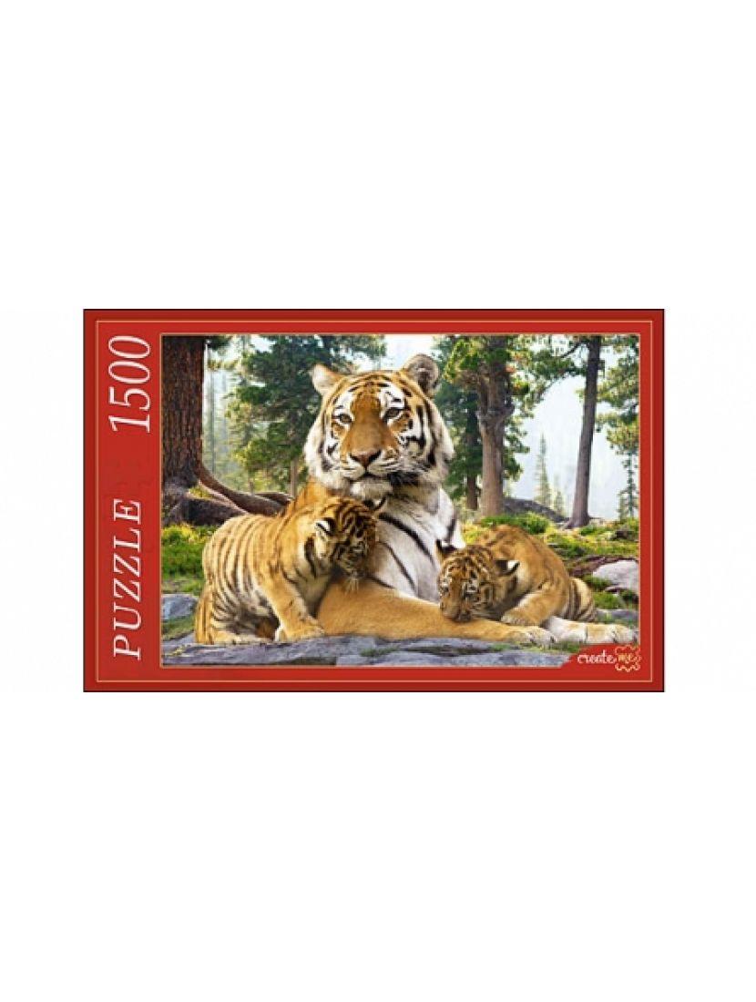 Пазл «Семья сибирских тигров» 1500 элементов