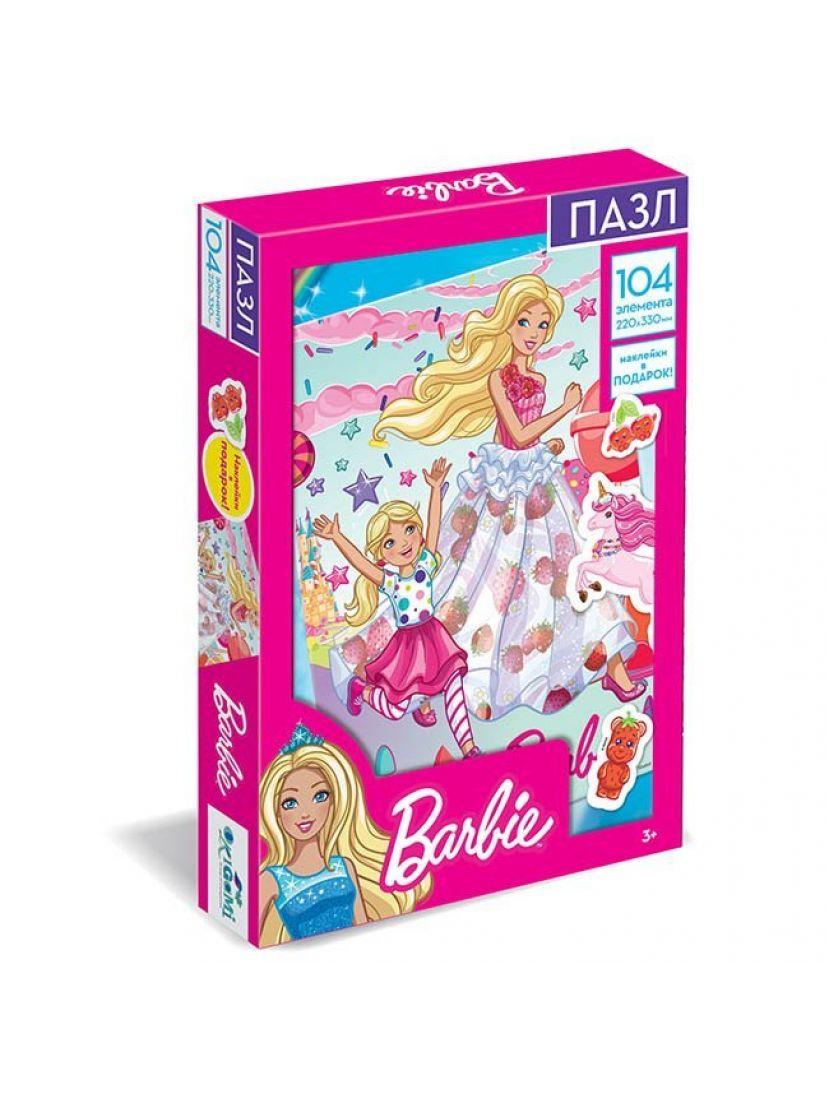 Пазл «Барби. Навстречу приключениям!» 104 элемента + наклейки