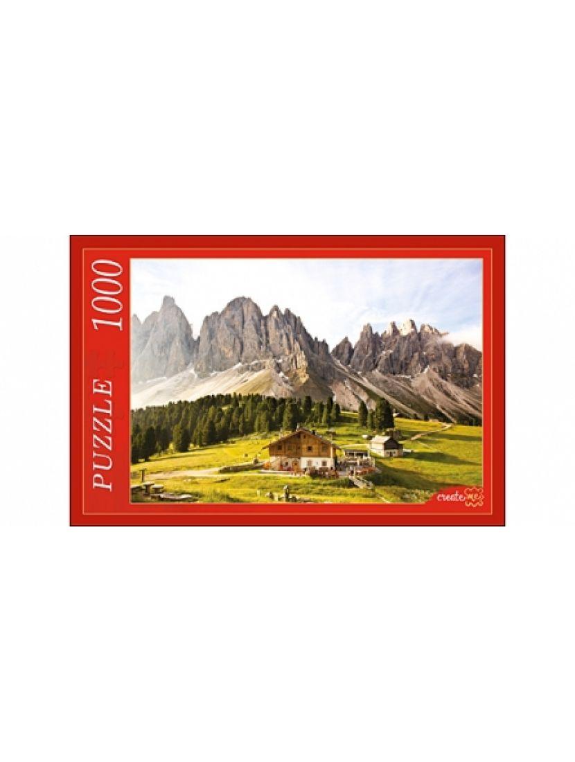 Пазл «Дом и горные вершины» 1000 элементов