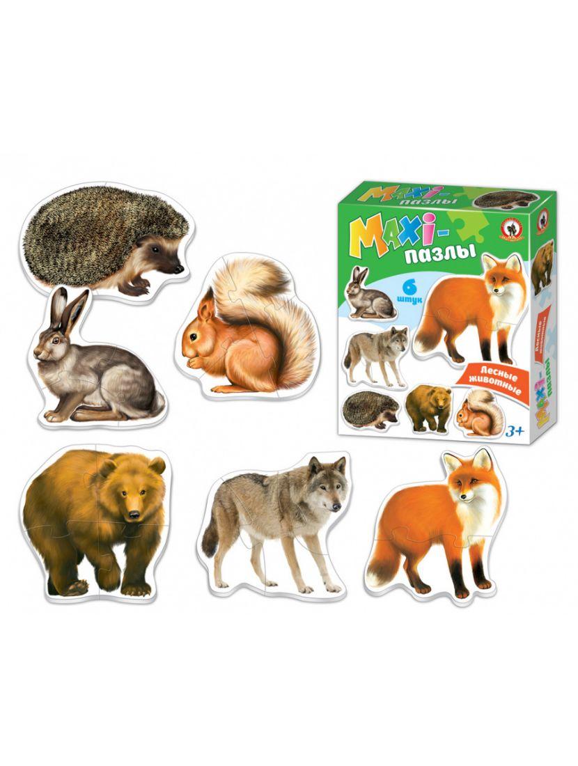 Пазл «Лесные животные» от 2 до 6 MAXI элементов