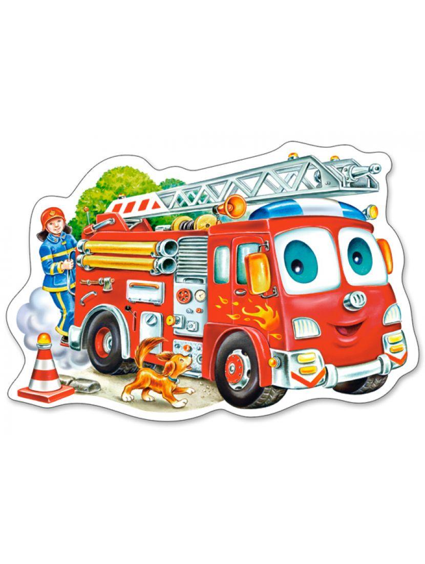 Пазл «Пожарная машина» 15 элементов