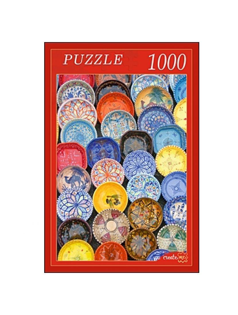 Пазл «Расписные тарелки» 1000 элементов