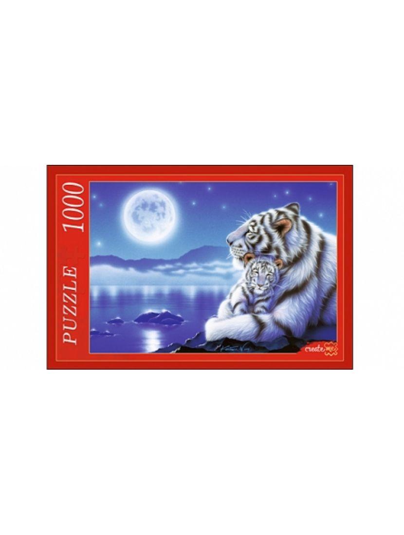 Пазл «Белые тигры под Луной» 1000 элементов