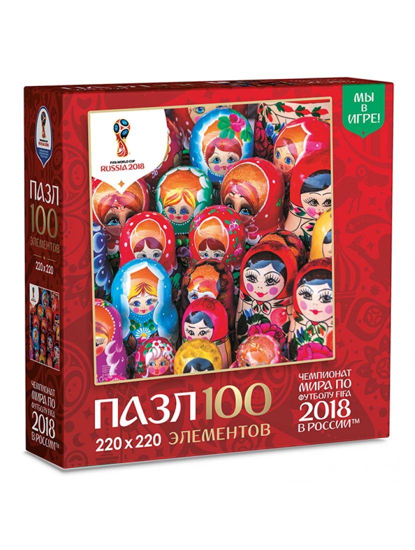 Пазл «Красочные матрешки» 100 элементов