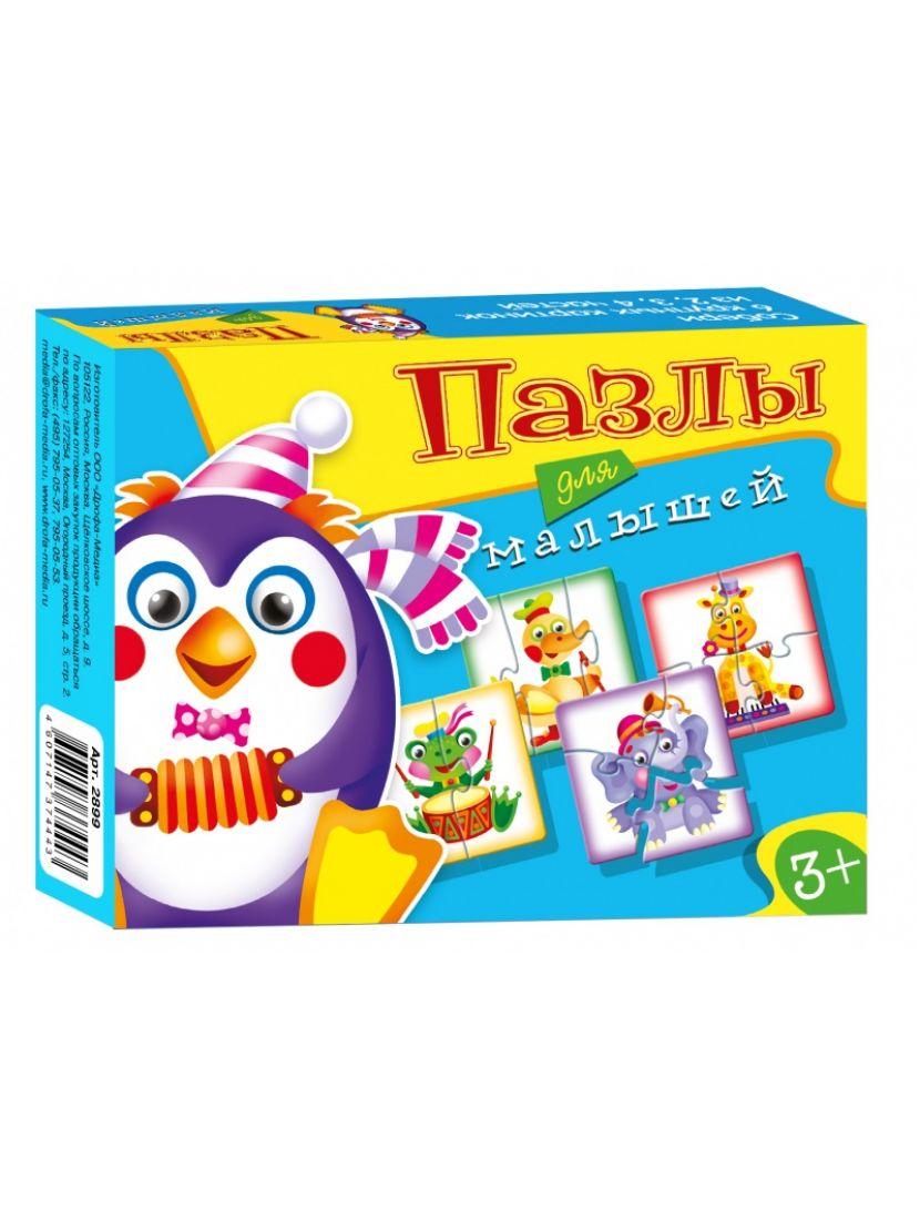 Пазл-набор 4 в 1 «Играй и собирай Пазлы для малышей 7» 6, 9, 12, 15 элементов