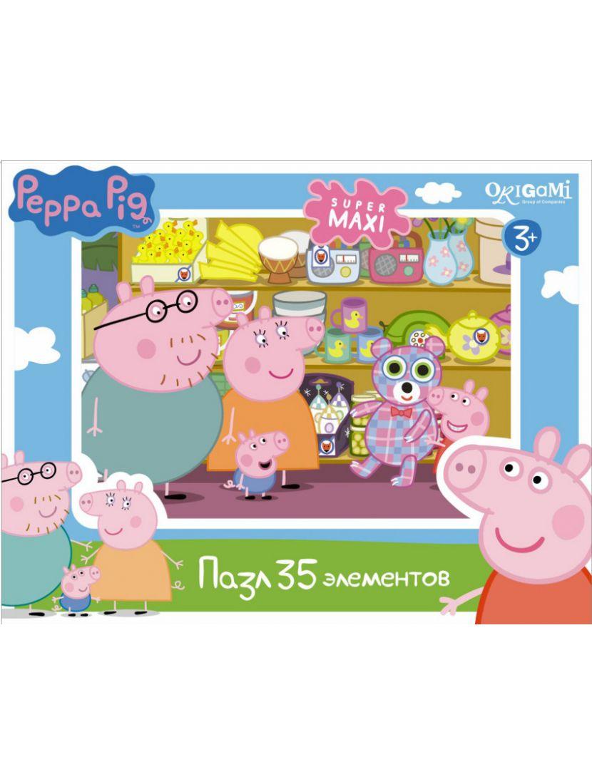 Пазл «Peppa Pig. Герои и предметы» 35 MAXI элементов