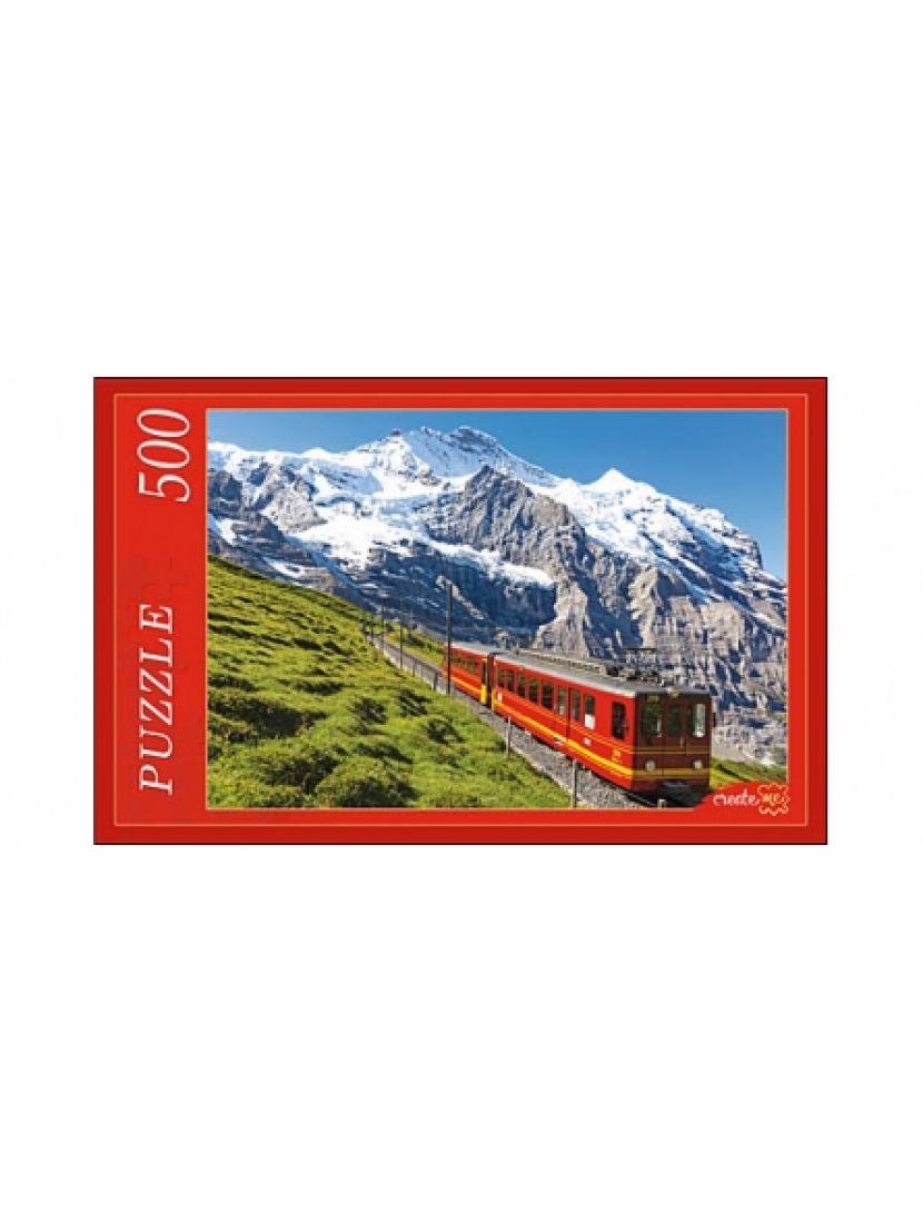 Пазл «Поезд в Альпах» 500 элементов
