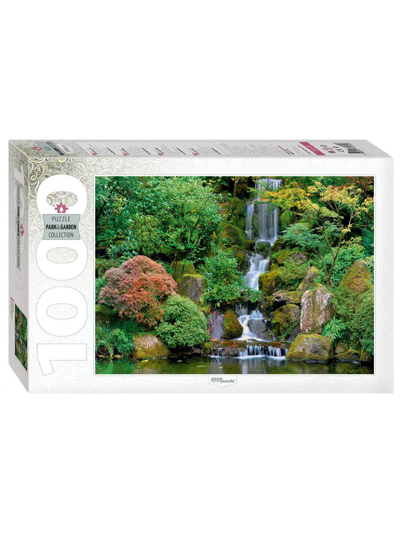 Пазл «Водопад в японском саду» 1000 элементов