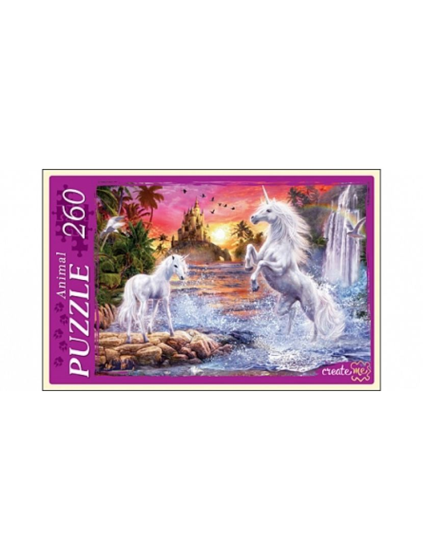 Пазл «Единороги у водопада» 260 элементов