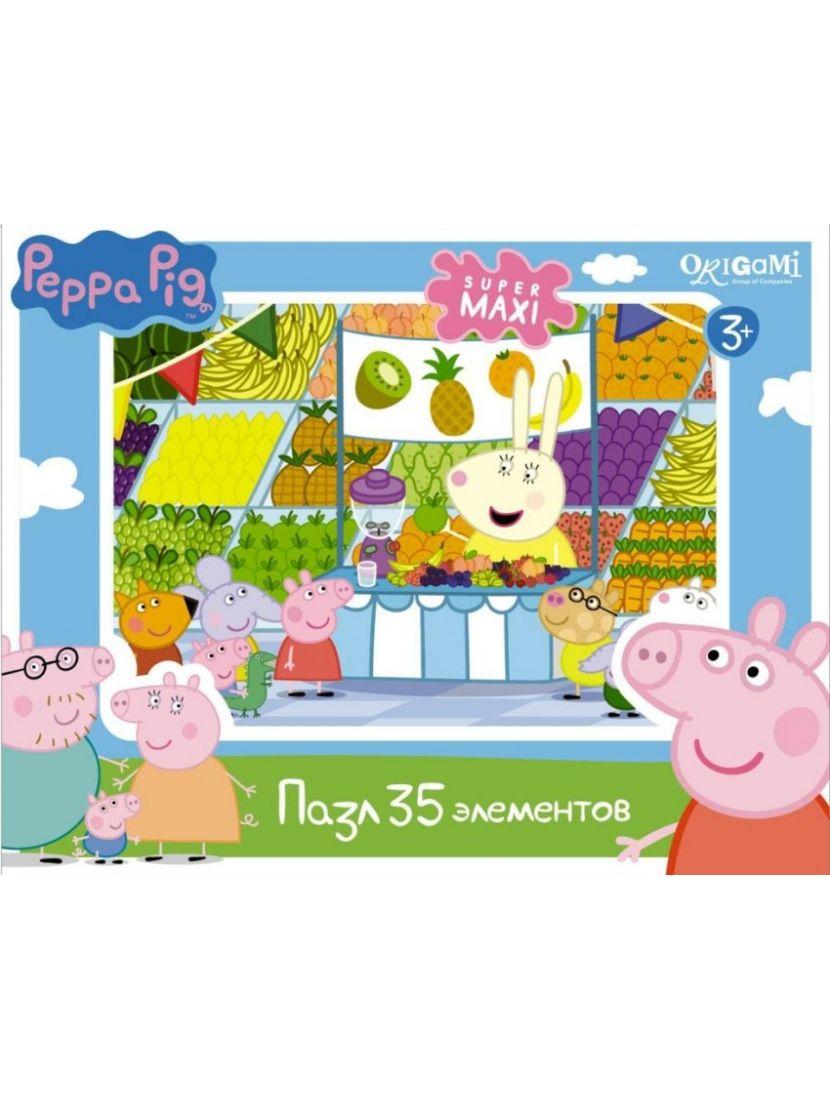 Пазл «Peppa Pig. Магазин фруктов» 35 MAXI элементов