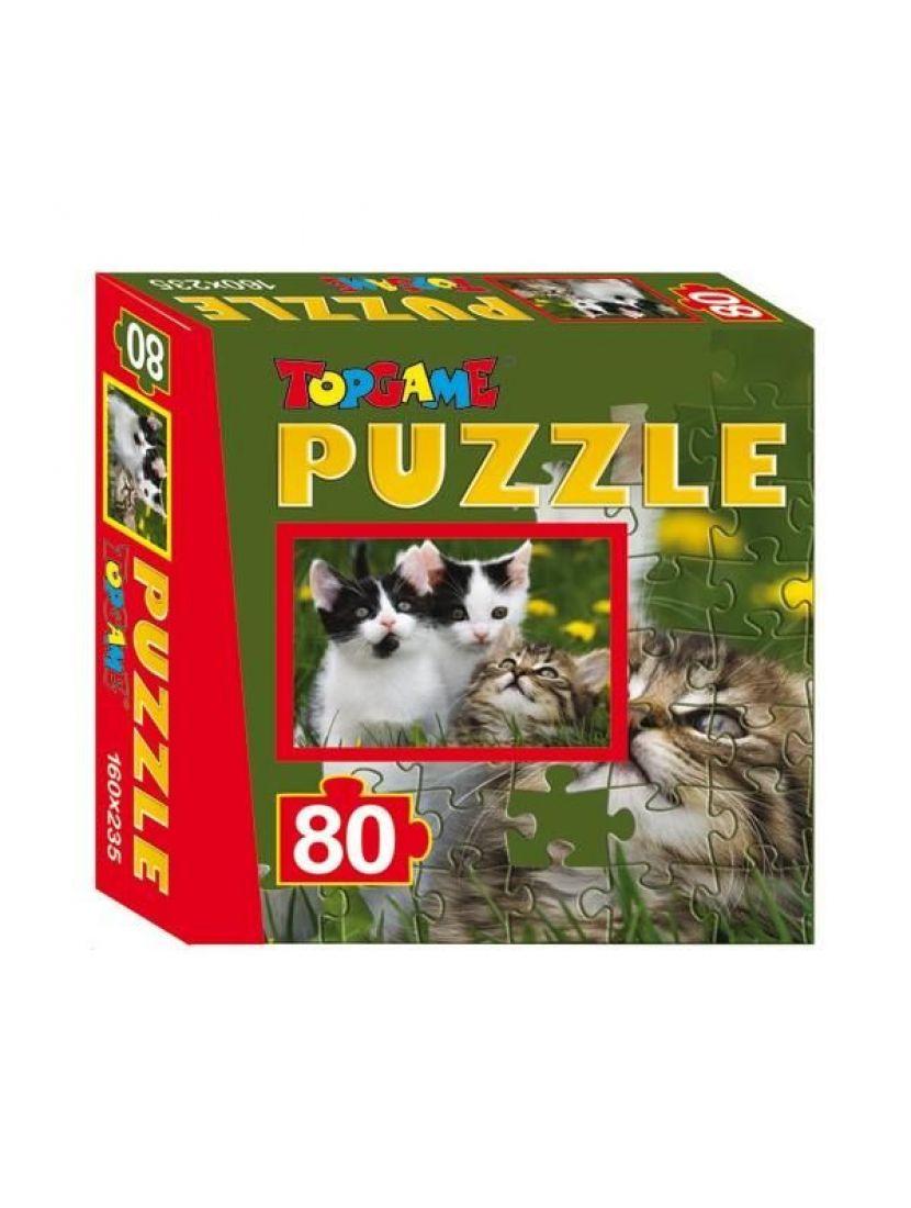Пазл «Три котёнка» 80 элементов