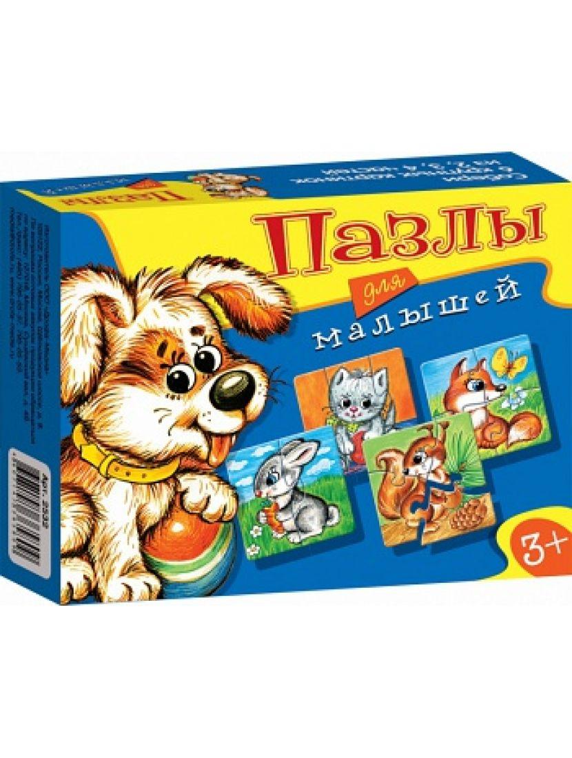 Пазл-набор 5 в 1 «Играй и собирай.  Животные» 2, 3, 4, 5, 6 элементов