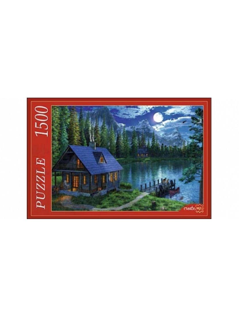 Пазл  «Ночное озеро в лесу. Доминик Дэвисон» 1500 элементов