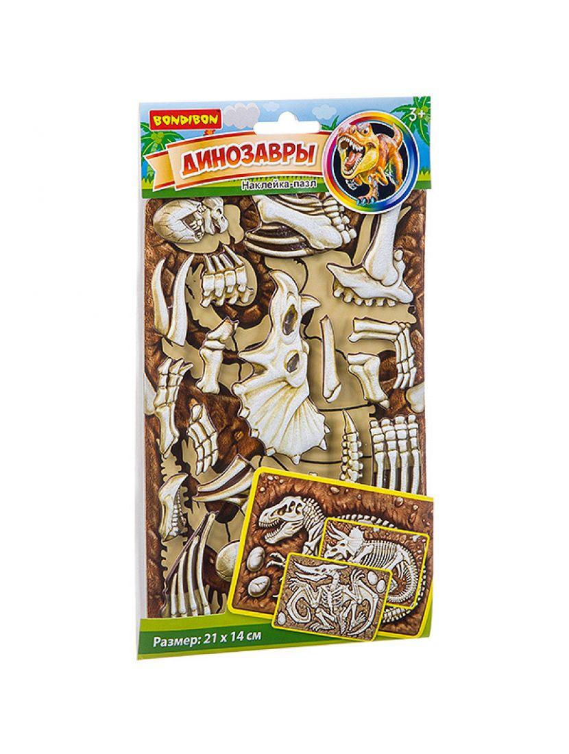 Пазл - наклейка «Трицераптопс»