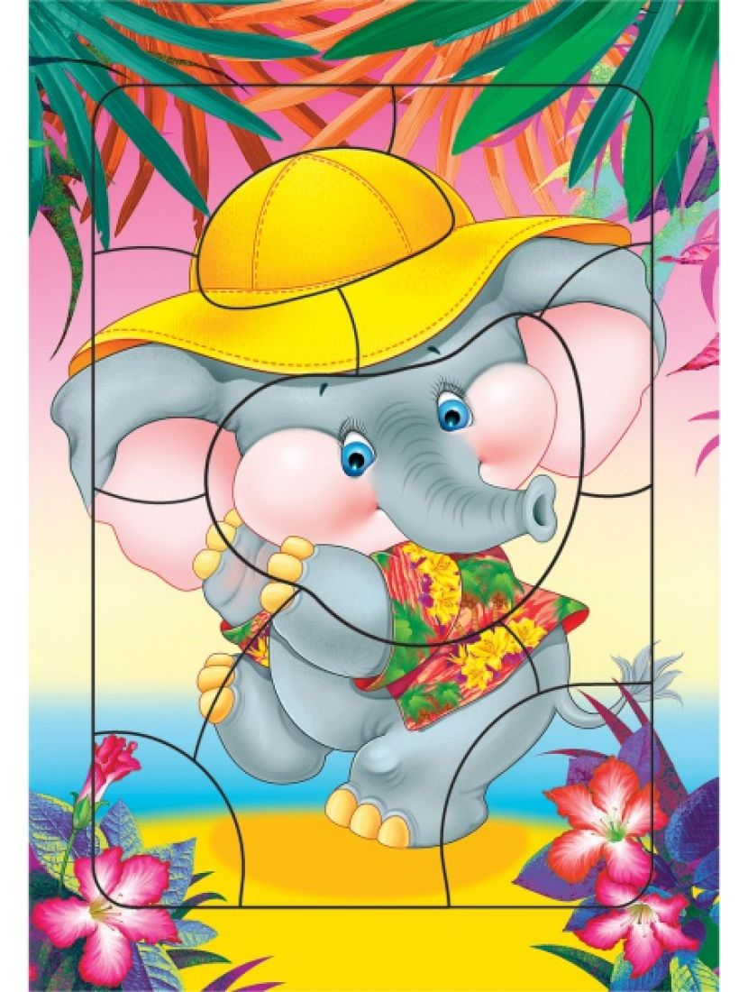 Пазл «Слонёнок» 12 элементов