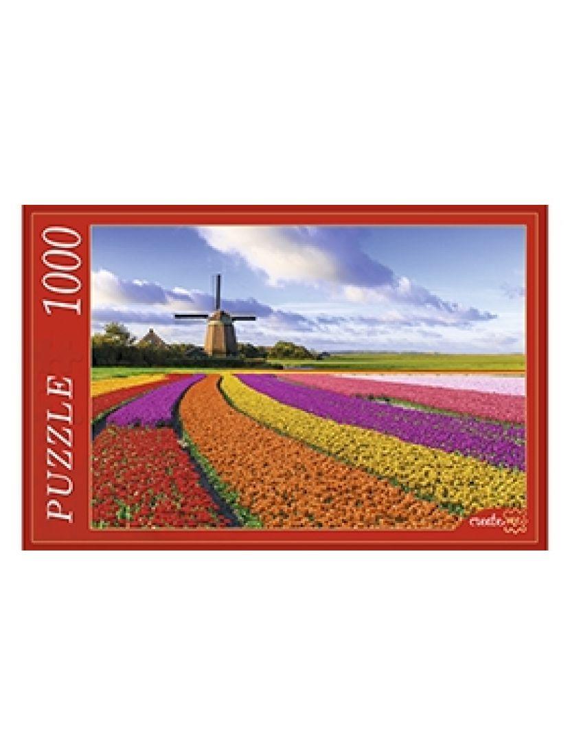 Пазл «Поле тюльпанов и мельница» 1000 элементов