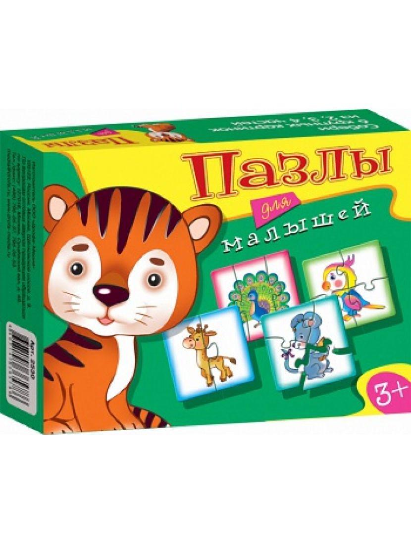 Пазл-набор 4 в 1 «Играй и собирай Пазлы для малышей 2» 6, 9, 12, 15 элементов
